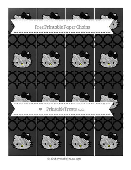Free Black Quatrefoil Pattern Chalk Style Hello Kitty Paper Chains