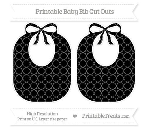 Free Black Quatrefoil Pattern Large Baby Bib Cut Outs