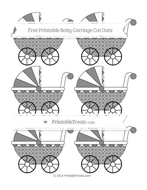 Free Black Quatrefoil Pattern Small Baby Carriage Cut Outs