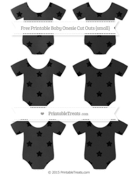Free Black Star Pattern Chalk Style Small Baby Onesie Cut Outs