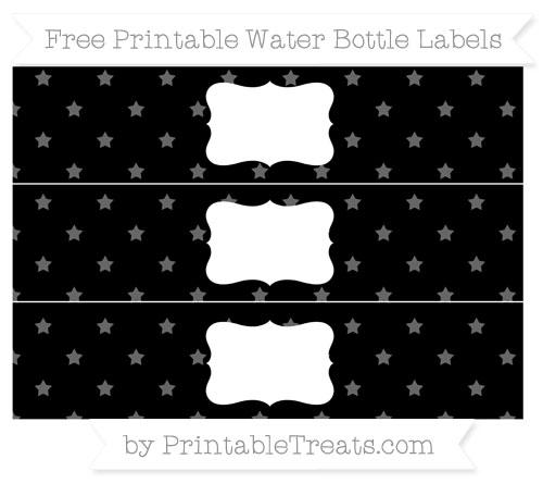 Free Black Star Pattern Water Bottle Labels