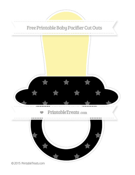 Free Black Star Pattern Extra Large Baby Pacifier Cut Outs