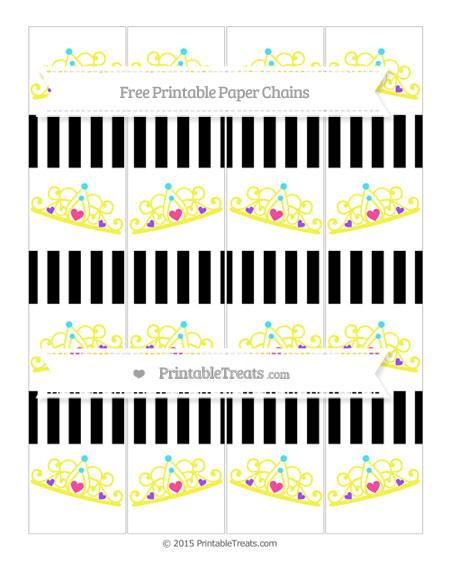 Free Black Striped Princess Tiara Paper Chains