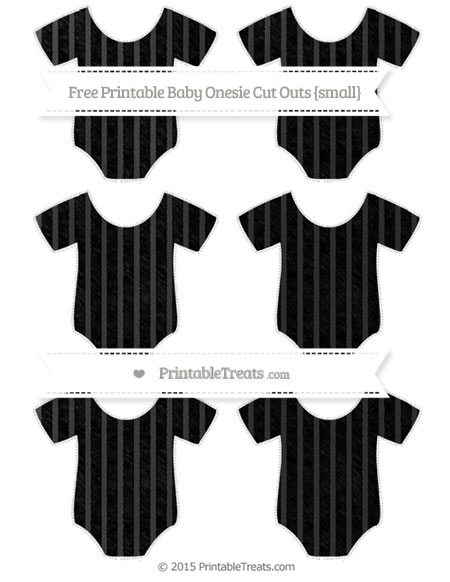 Free Black Thin Striped Pattern Chalk Style Small Baby Onesie Cut Outs
