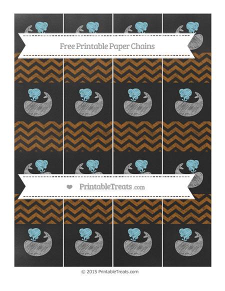 Free Brown Chevron Chalk Style Whale Paper Chains