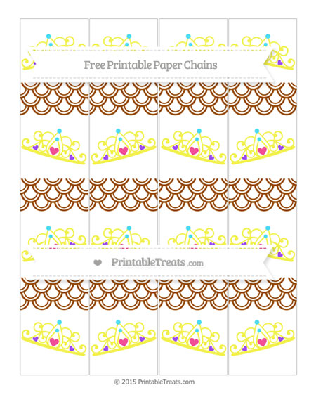 Free Brown Fish Scale Pattern Princess Tiara Paper Chains