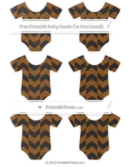 Free Brown Herringbone Pattern Chalk Style Small Baby Onesie Cut Outs