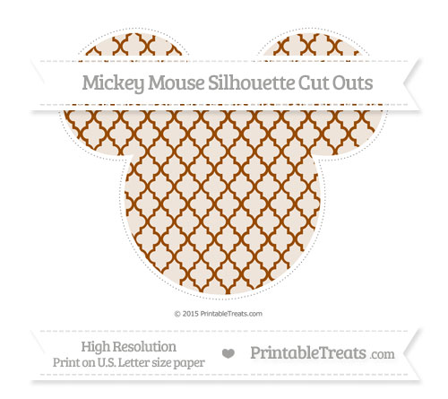 Free Brown Moroccan Tile Extra Large Mickey Mouse Silhouette Cut Outs