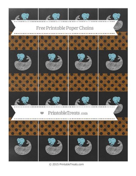 Free Brown Polka Dot Chalk Style Whale Paper Chains