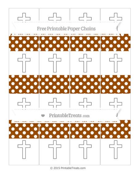 Free Brown Polka Dot Cross Paper Chains