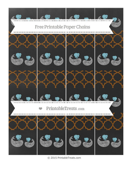 Free Brown Quatrefoil Pattern Chalk Style Baby Whale Paper Chains