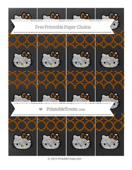 Free Brown Quatrefoil Pattern Chalk Style Hello Kitty Paper Chains