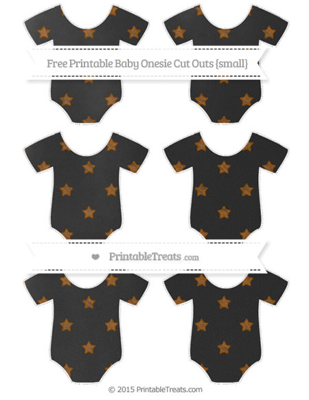 Free Brown Star Pattern Chalk Style Small Baby Onesie Cut Outs