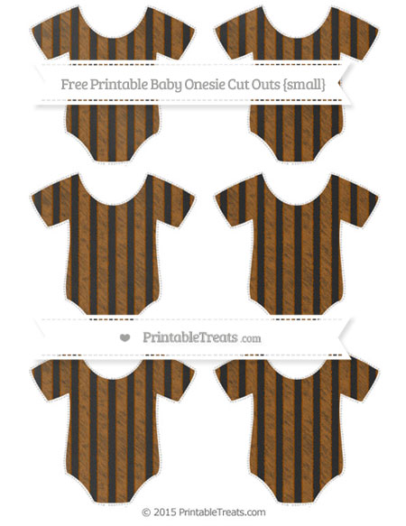 Free Brown Striped Chalk Style Small Baby Onesie Cut Outs