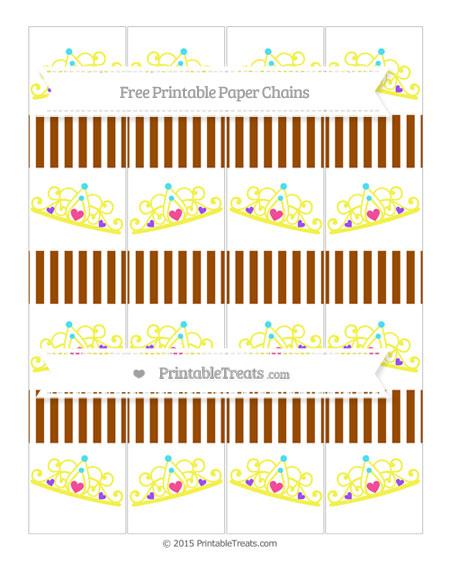 Free Brown Thin Striped Pattern Princess Tiara Paper Chains