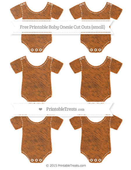 Free Burnt Orange Chalk Style Small Baby Onesie Cut Outs