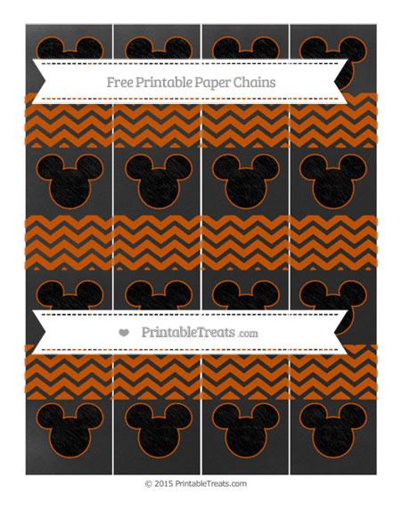 Free Burnt Orange Chevron Chalk Style Mickey Mouse Paper Chains