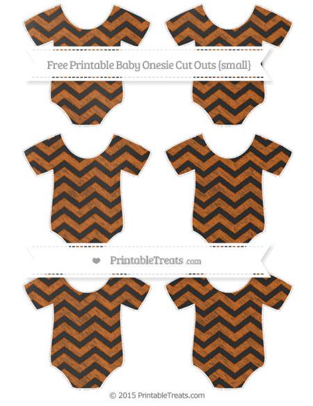Free Burnt Orange Chevron Chalk Style Small Baby Onesie Cut Outs