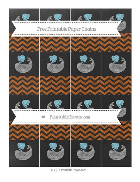 Free Burnt Orange Chevron Chalk Style Whale Paper Chains