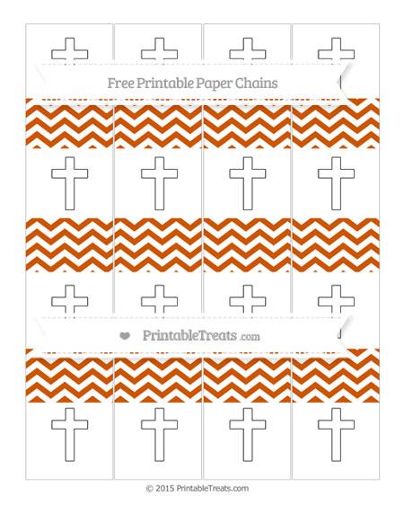 Free Burnt Orange Chevron Cross Paper Chains