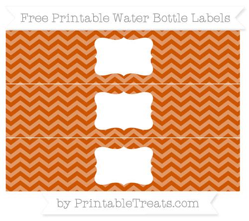 Free Burnt Orange Chevron Water Bottle Labels