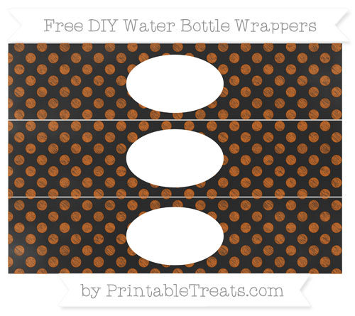 Free Burnt Orange Dotted Pattern Chalk Style DIY Water Bottle Wrappers