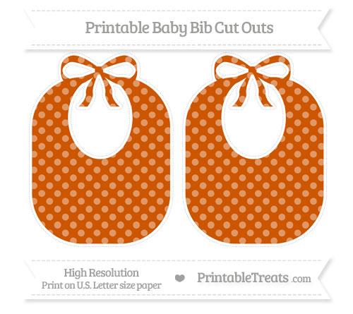 Free Burnt Orange Dotted Pattern Large Baby Bib Cut Outs