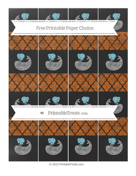 Free Burnt Orange Moroccan Tile Chalk Style Whale Paper Chains
