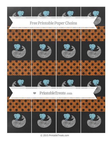 Free Burnt Orange Polka Dot Chalk Style Whale Paper Chains