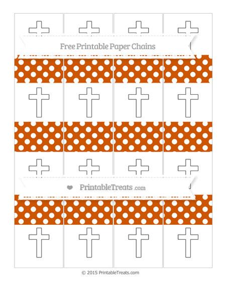 Free Burnt Orange Polka Dot Cross Paper Chains