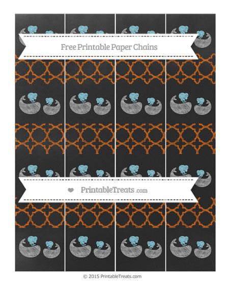 Free Burnt Orange Quatrefoil Pattern Chalk Style Baby Whale Paper Chains