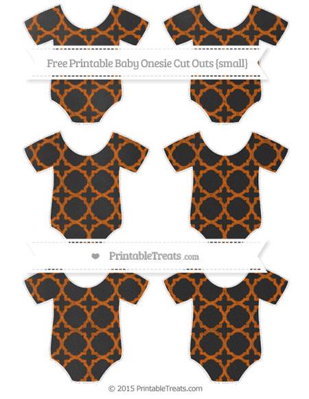 Free Burnt Orange Quatrefoil Pattern Chalk Style Small Baby Onesie Cut Outs