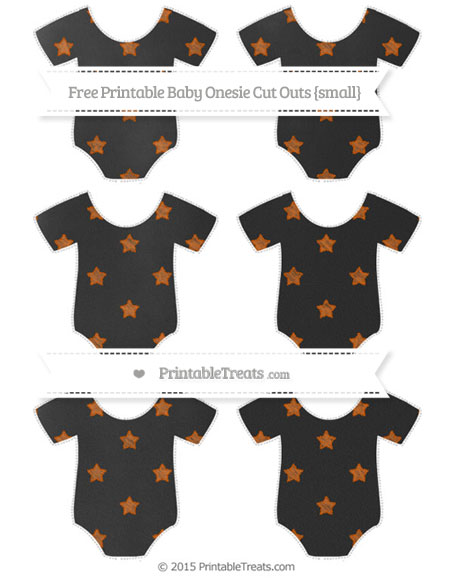 Free Burnt Orange Star Pattern Chalk Style Small Baby Onesie Cut Outs
