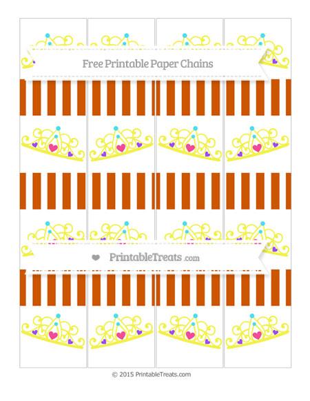 Free Burnt Orange Striped Princess Tiara Paper Chains
