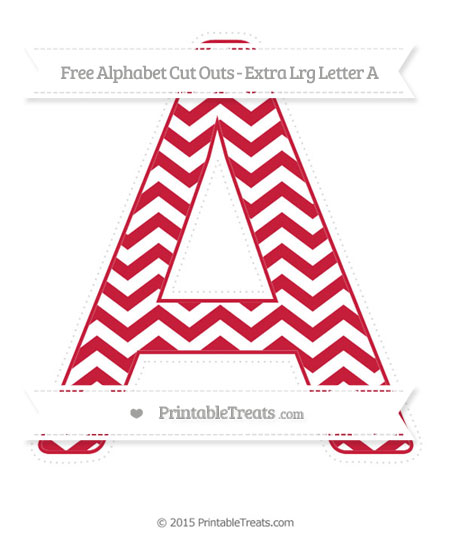 Free Cardinal Red Chevron Extra Large Capital Letter A Cut Outs