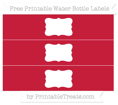 Free Cardinal Red Water Bottle Labels