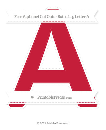 Free Cardinal Red Extra Large Capital Letter A Cut Outs