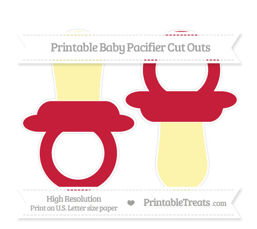 Free Cardinal Red Large Baby Pacifier Cut Outs