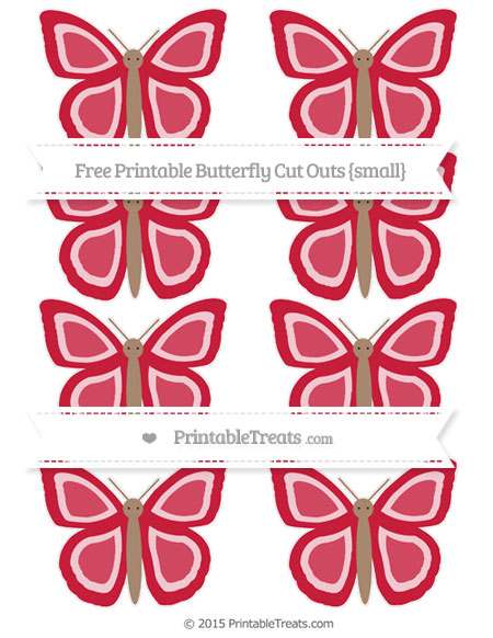 Free Cardinal Red Small Butterfly Cut Outs