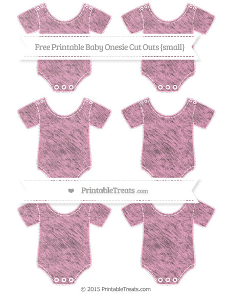 Free Carnation Pink Chalk Style Small Baby Onesie Cut Outs