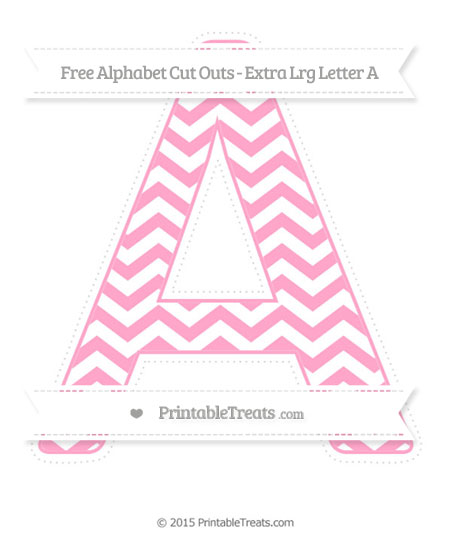 Free Carnation Pink Chevron Extra Large Capital Letter A Cut Outs