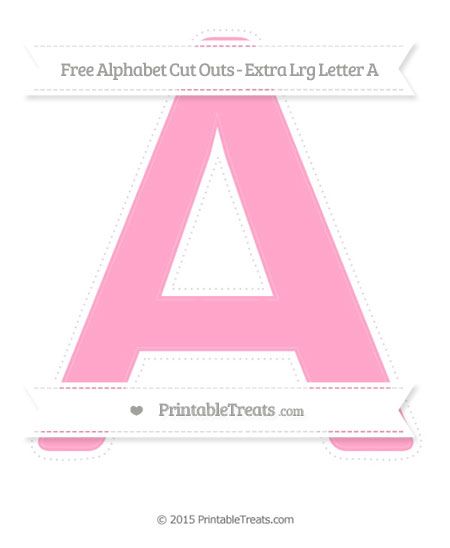 Free Carnation Pink Extra Large Capital Letter A Cut Outs