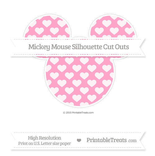 Free Carnation Pink Heart Pattern Extra Large Mickey Mouse Silhouette Cut Outs