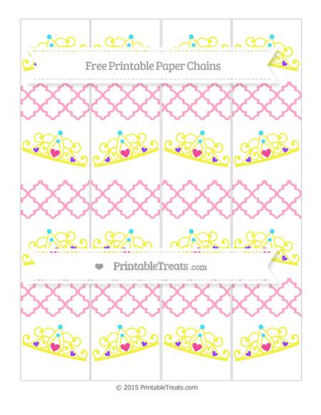 Free Carnation Pink Moroccan Tile Princess Tiara Paper Chains
