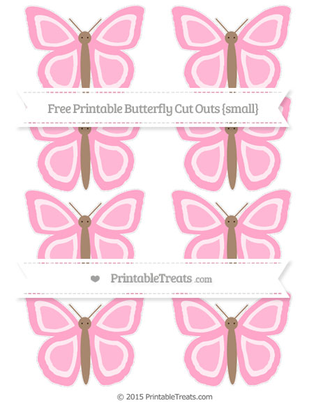 Free Carnation Pink Small Butterfly Cut Outs