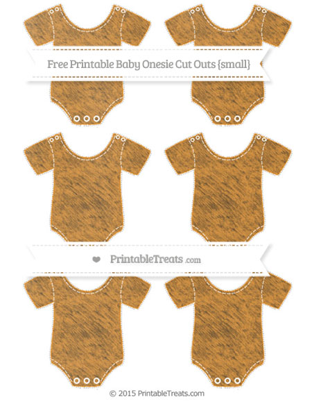 Free Carrot Orange Chalk Style Small Baby Onesie Cut Outs
