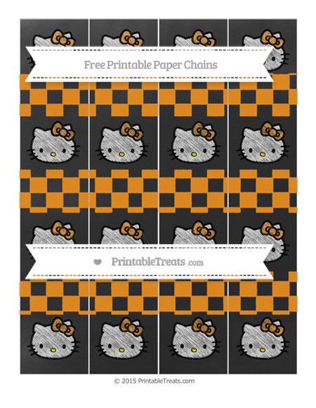 Free Carrot Orange Checker Pattern Chalk Style Hello Kitty Paper Chains