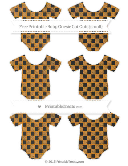 Free Carrot Orange Checker Pattern Chalk Style Small Baby Onesie Cut Outs
