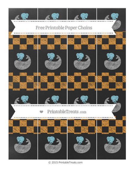 Free Carrot Orange Checker Pattern Chalk Style Whale Paper Chains