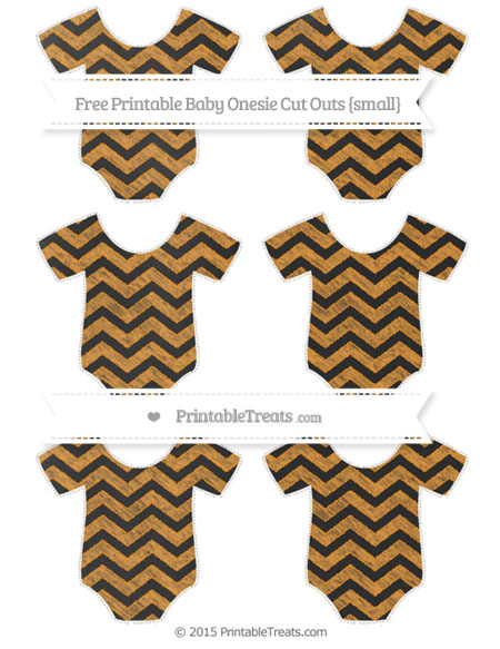 Free Carrot Orange Chevron Chalk Style Small Baby Onesie Cut Outs